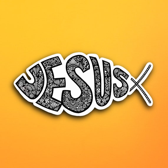 Jesus Fish Sticker (WATERPROOF)