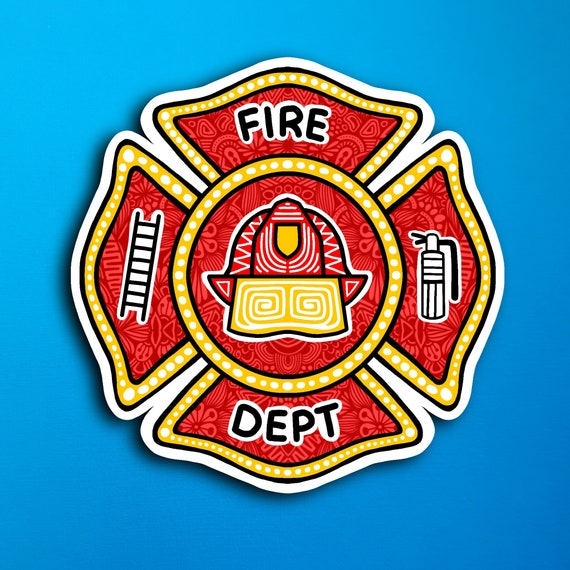 Fireman Badge Sticker (WATERPROOF)