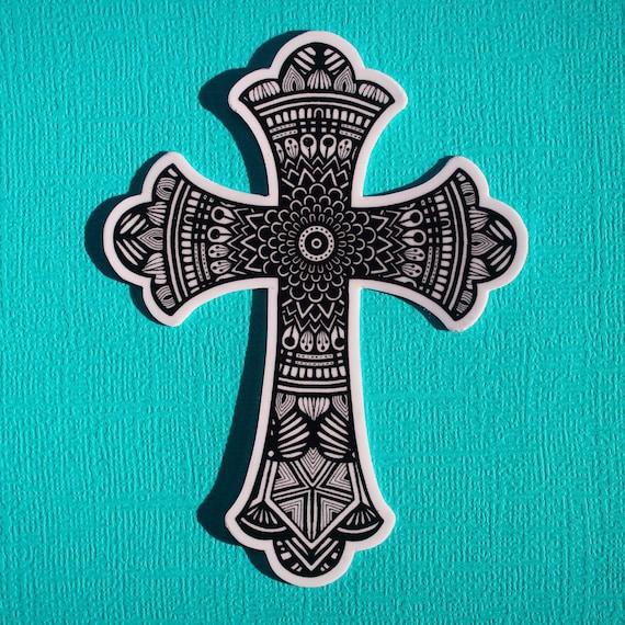 Cross Sticker (WATERPROOF)