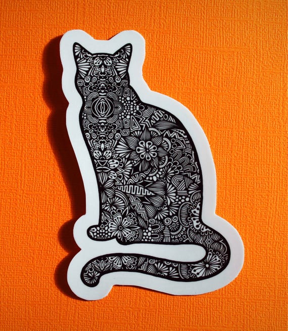 Cat Body Sticker (WATERPROOF)