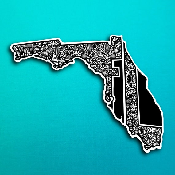 State Florida Sticker (WATERPROOF)