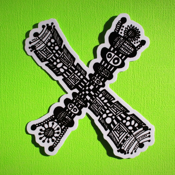 Letter X Sticker (WATERPROOF)