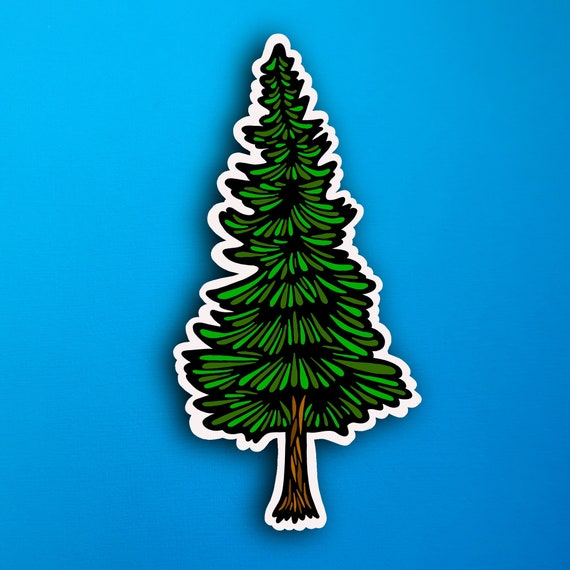 Pine Tree Sticker (WATERPROOF)