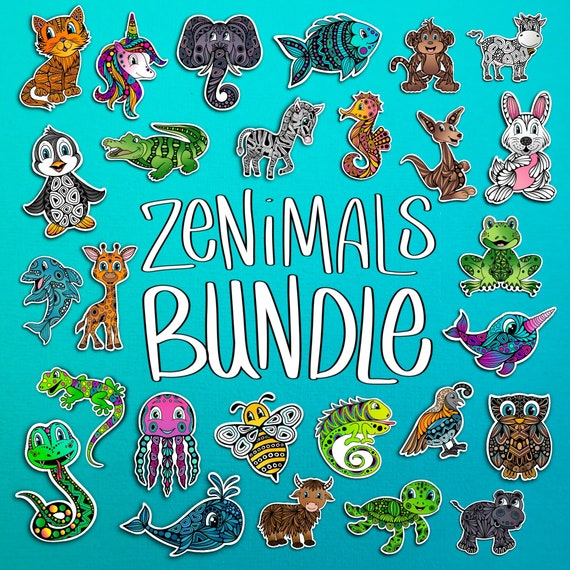 Zenimal Sticker Bundle - All 27 Stickers! (WATERPROOF)