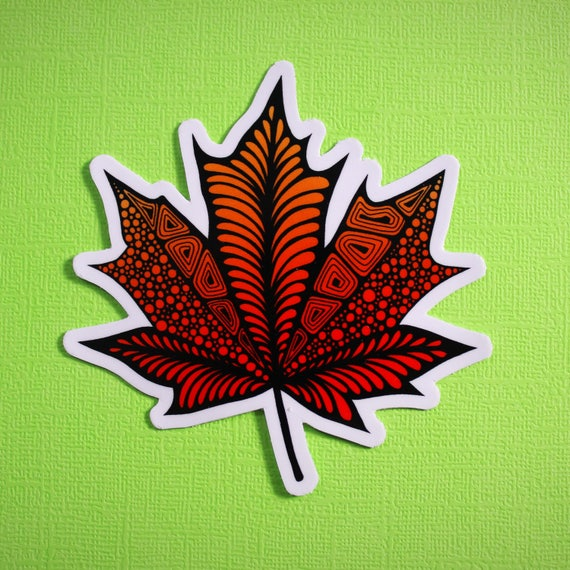 Maple Leaf Sticker (WATERPROOF)