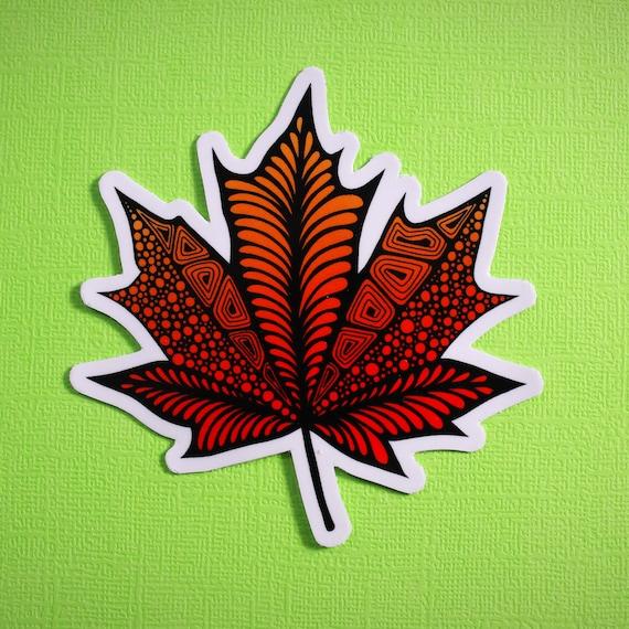 Maple Leaf Sticker (WATERPROOF)