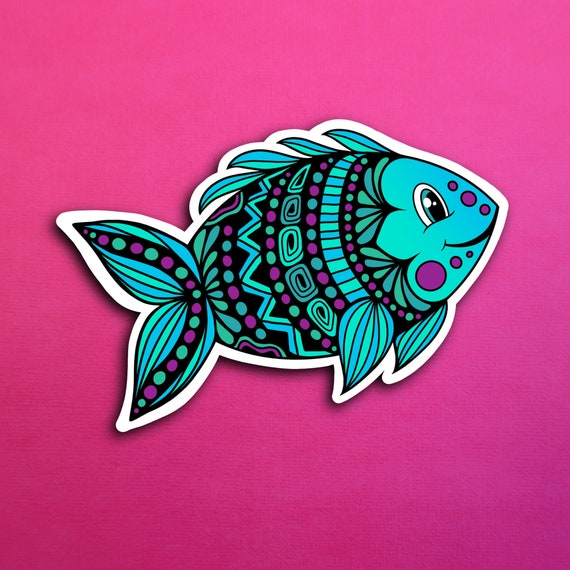 Franco the Fish Sticker (WATERPROOF)