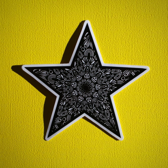 B&W Star Sticker