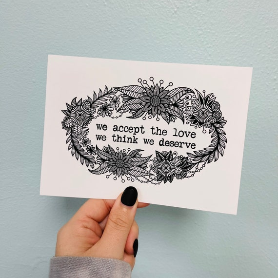 BW Accept the love Print