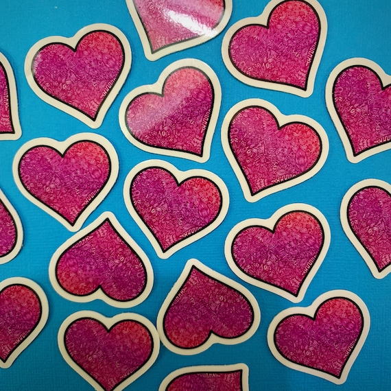 Mini Pink Heart Sticker
