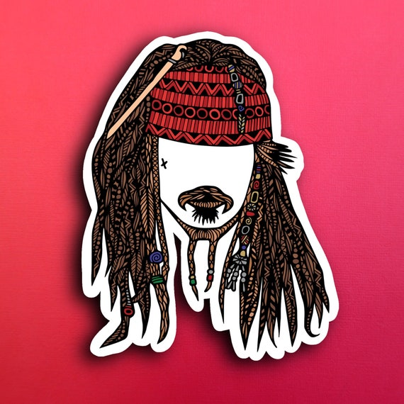 Jack Sparrow Sticker (WATERPROOF)