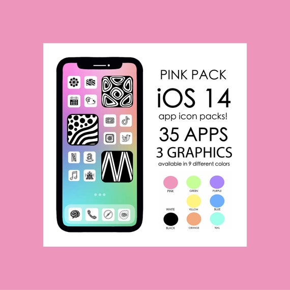 PINK iOS 14 App Icons!