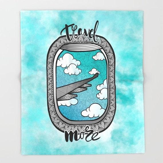 Travel More Throw Blanket