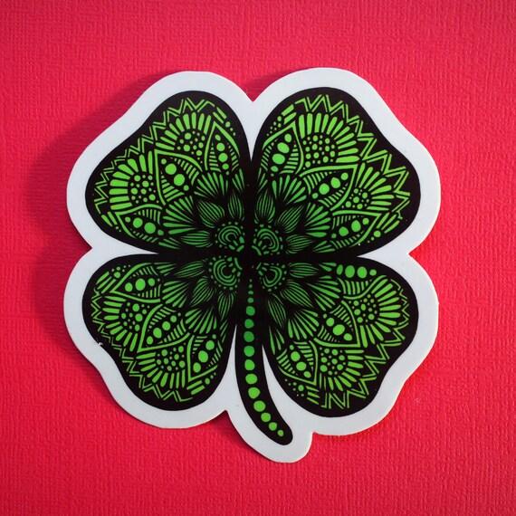 Four Leaf Clover Sticker (WATERPROOF)