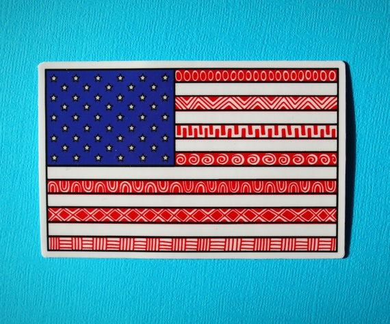 American Flag Sticker (WATERPROOF)