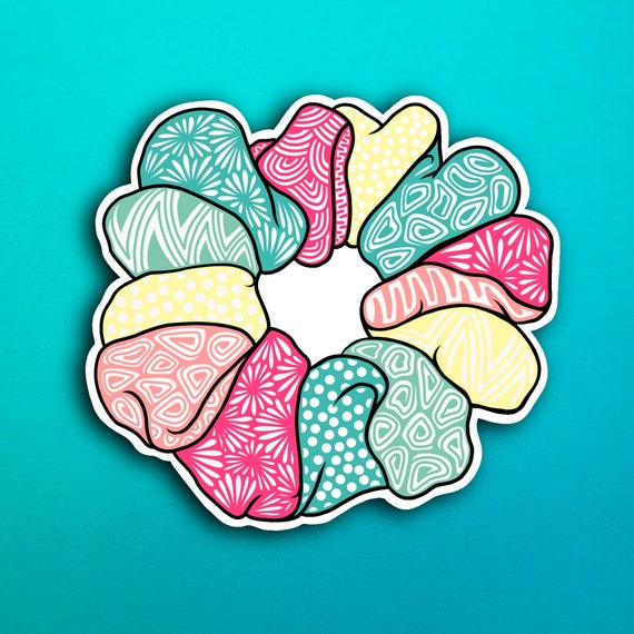 Multicolor Scrunchie Sticker (WATERPROOF)