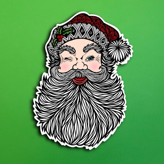 Santa Sticker (WATERPROOF)