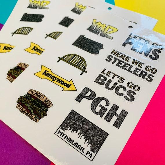 Mini Pittsburgh Sticker Sheet (WATERPROOF)