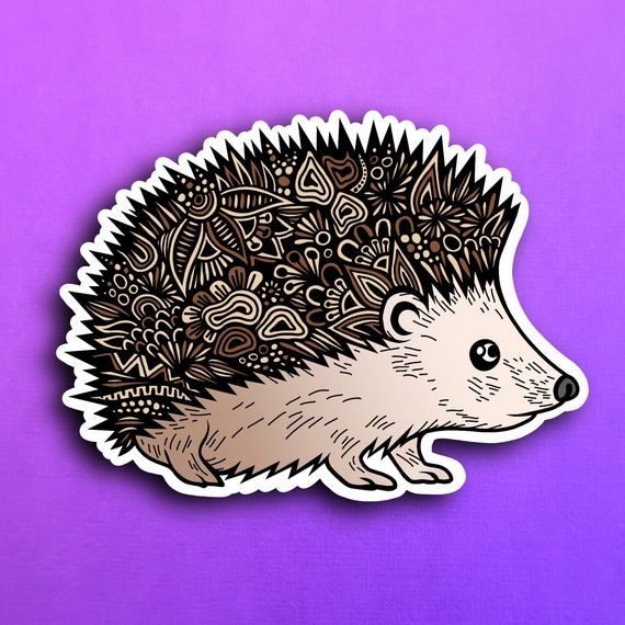 Hedgehog Sticker (WATERPROOF)