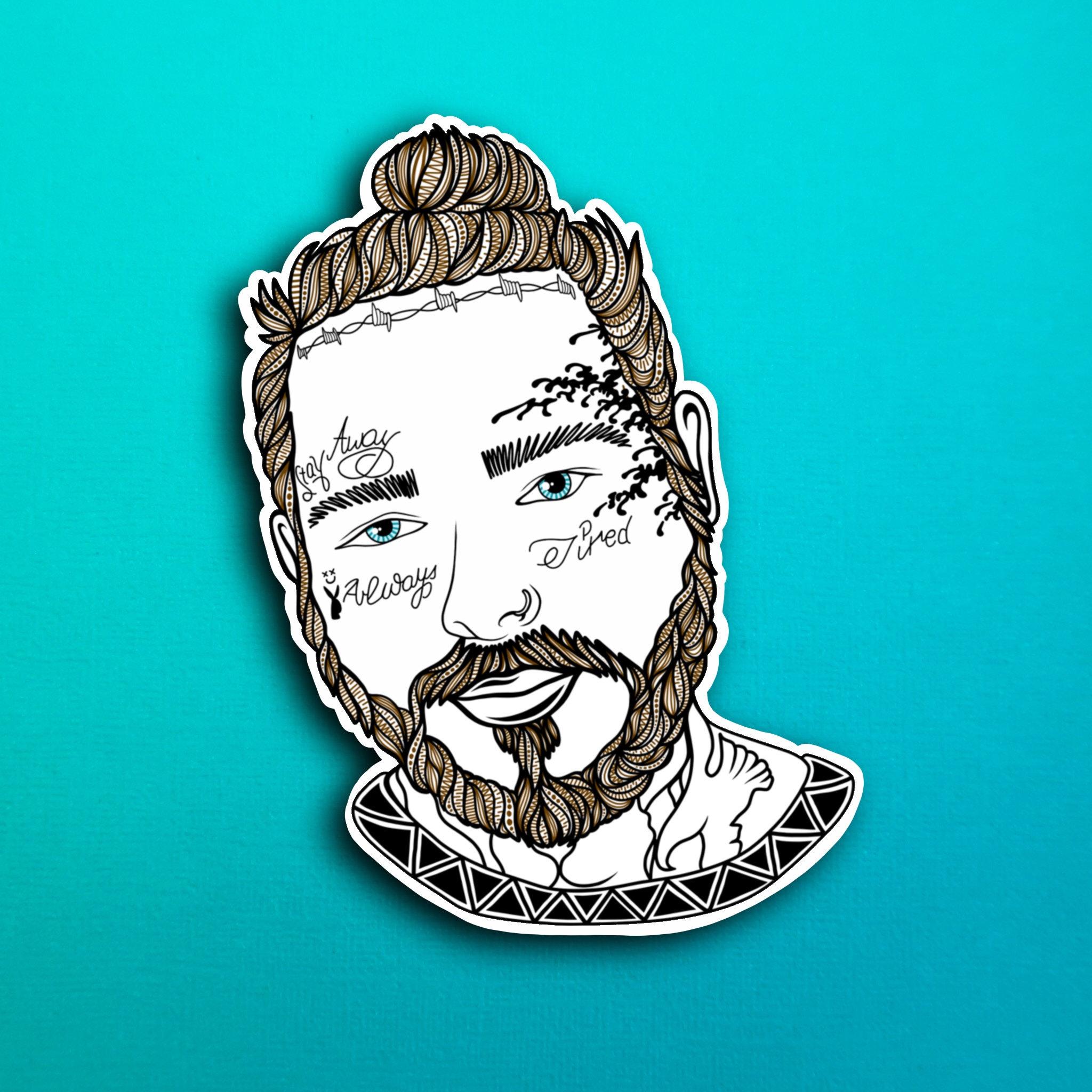 Post Malone Sticker (WATERPROOF