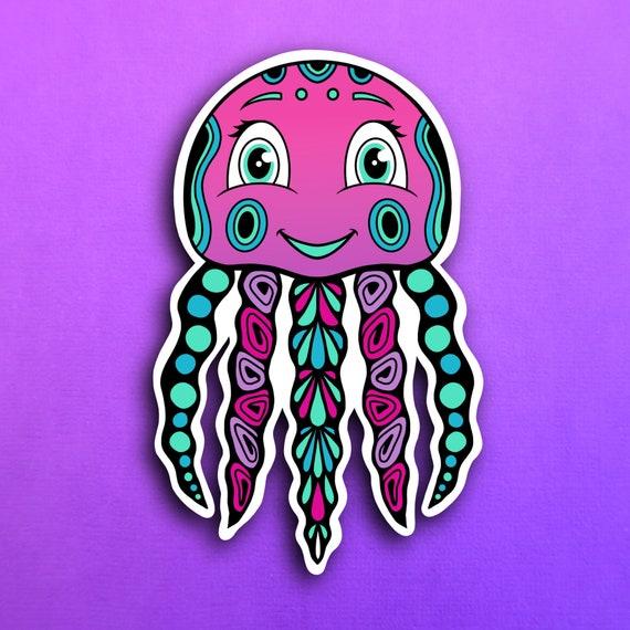 Jamie the Jellyfish Sticker (WATERPROOF)
