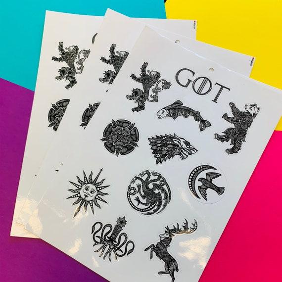 Mini GOT Sticker Sheet (WATERPROOF) (WATERPROOF)