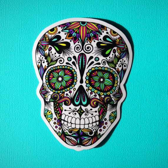 Sugar Skull Sticker (WATERPROOF)