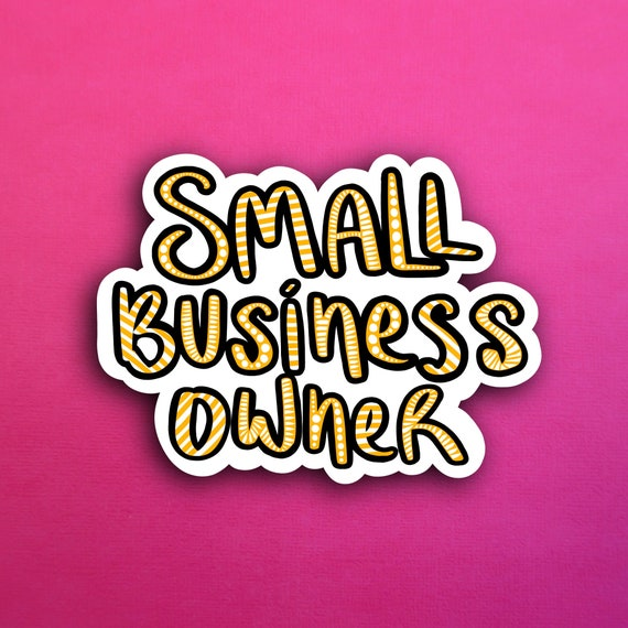 Orange Small Business Owner Sticker (WATERPROOF)
