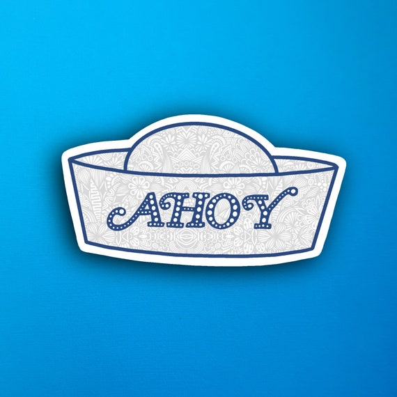 Ahoy Sticker (WATERPROOF)