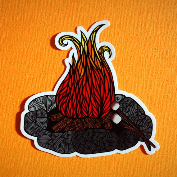 Camp Fire Sticker (WATERPROOF)