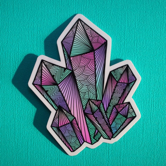 Crystals Sticker (WATERPROOF)
