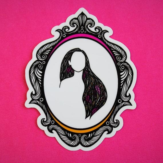 Colorful Wind Sticker (WATERPROOF) Princess