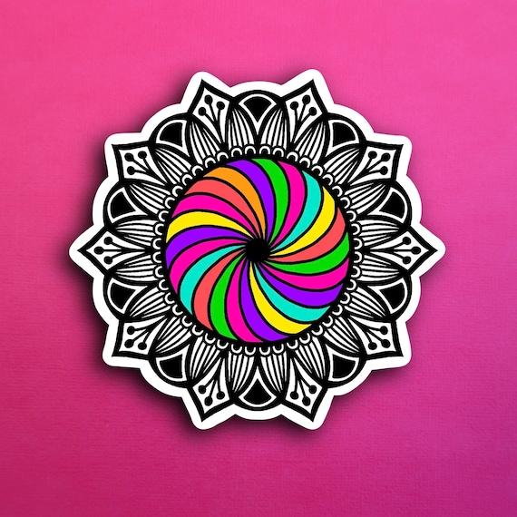 Rainbow Swirl Sticker (WATERPROOF)