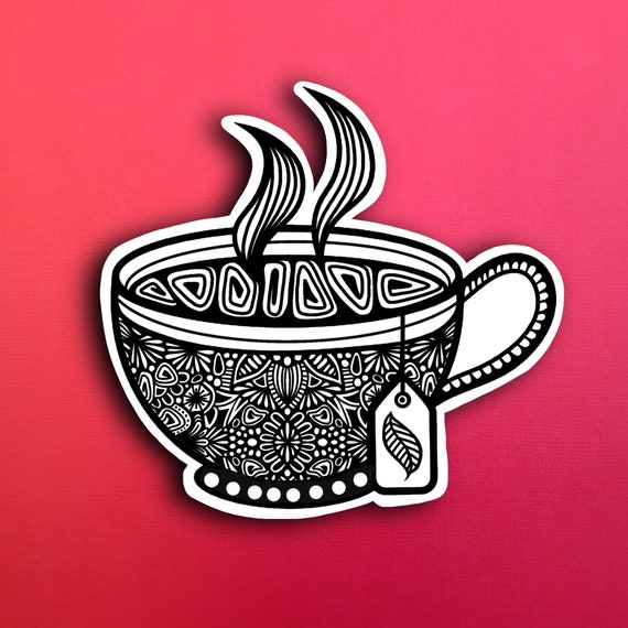 Teacup Sticker (WATERPROOF)
