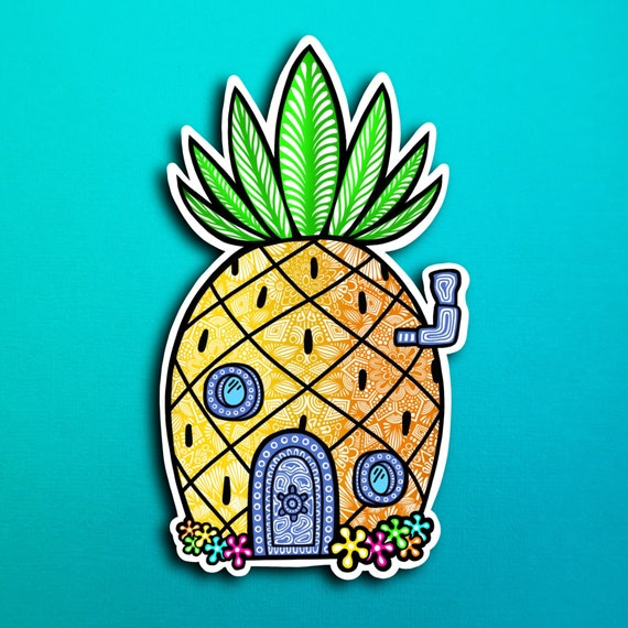 SpongeBob's House  Sticker (WATERPROOF)