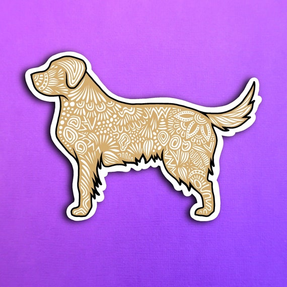 Yellow Lab Sticker (WATERPROOF)