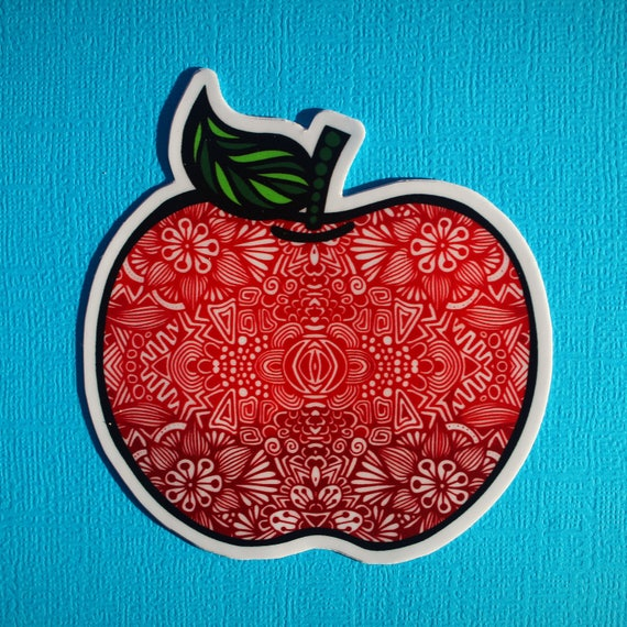 Apple Sticker (WATERPROOF)