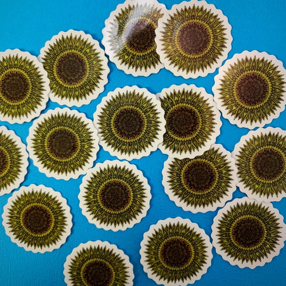 Mini Sunflower Sticker (WATERPROOF)