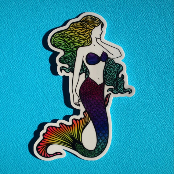 Mermaid Sticker (WATERPROOF)
