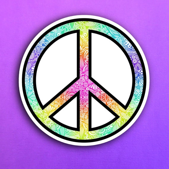Peace Sign Sticker (WATERPROOF)