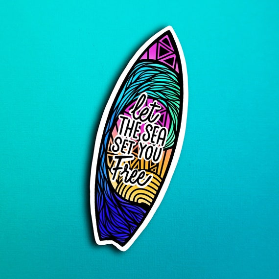 Surfboard Quote Sticker (WATERPROOF)