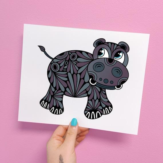 Harvey the Hippo Print