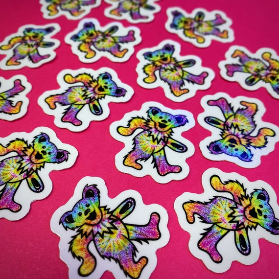 Mini Trippy Bear Sticker (WATERPROOF)