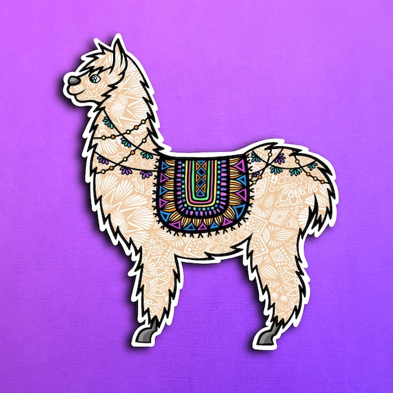 Llama Sticker (WATERPROOF)
