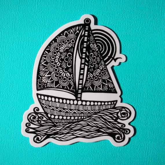Sail Boat Sticker (WATERPROOF)