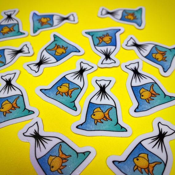 Mini Goldfish Sticker (WATERPROOF)