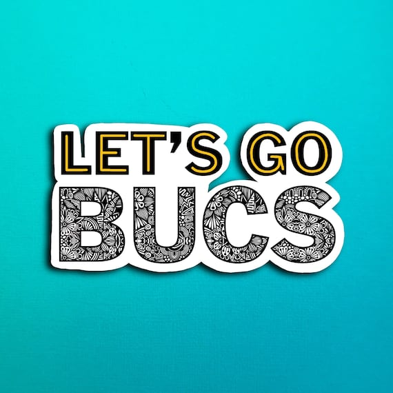 Let's Go Bucs Sticker (WATERPROOF)