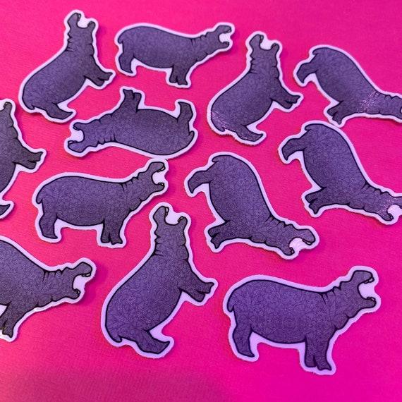 Mini Hippo Sticker (WATERPROOF)