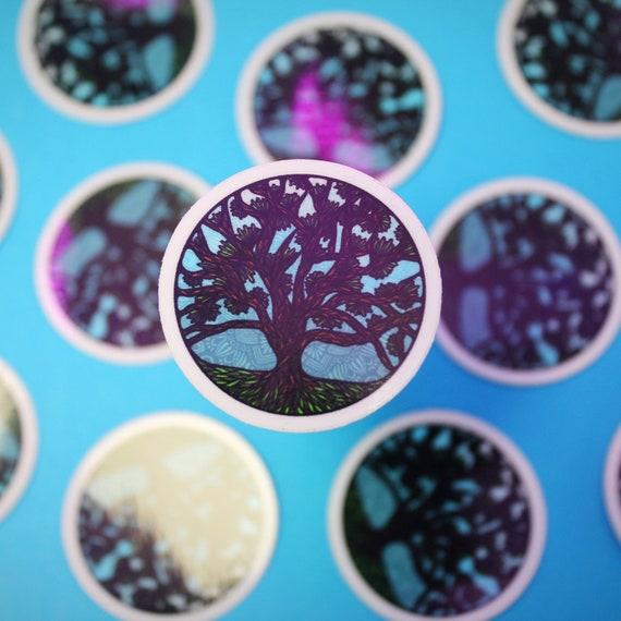 Mini Circle Tree Sticker (WATERPROOF)