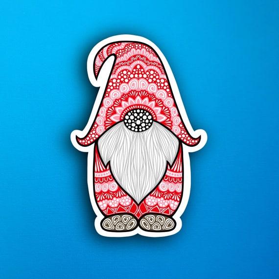 Red Gnome Sticker (WATERPROOF)